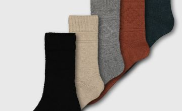 Aztec Texture Stay Fresh Ankle Socks 5 Pack