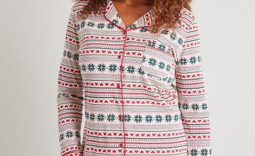 Christmas Fair Isle Print Traditional Pyjamas