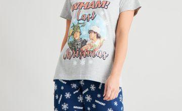 Wham! Last Christmas Grey Graphic Pyjamas