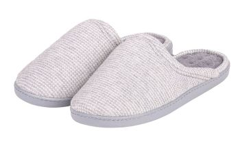 Grey Waffle Pillowstep Mule Slippers