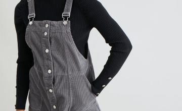 Grey Corduroy Pinafore