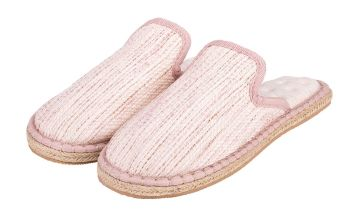 Pink Espadrille Pillowstep Mule Slippers