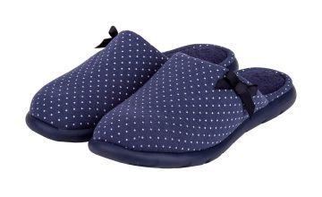Navy Spot i-flex Pillowstep Mule Slippers