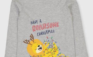 Christmas Grey Lion Top