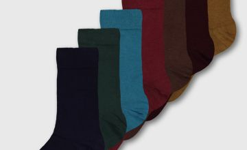 Multicoloured Stay Fresh Socks 7 Pack
