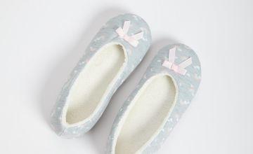 Rainbow Print Ballerina Slippers