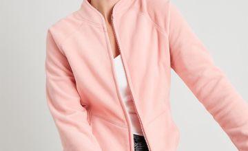 Pink Zip Through Fleece