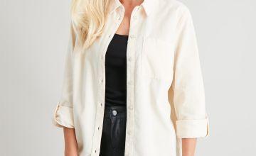 Off White Corduroy Shirt