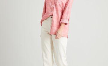 Pink Check Corduroy Shirt