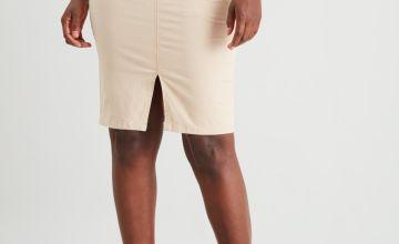 Stone Chino Pencil Skirt