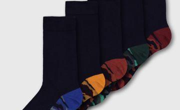 Camo Print Stay Fresh Socks 5 Pack