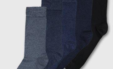 Blue Stay Fresh Socks 5 Pack