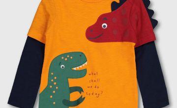 Dinosaur Appliqué T-Shirt