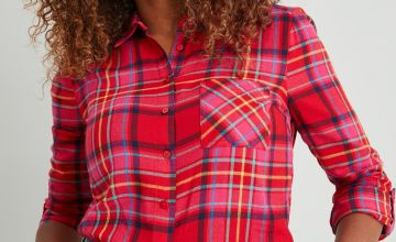 Festive Red & Pink Check Shirt