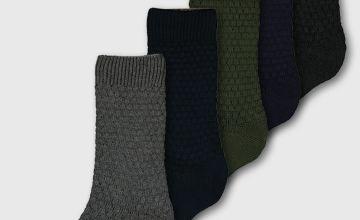 Waffle Knit Stay Fresh Socks 5 Pack