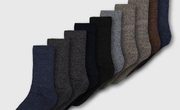 Assorted Cushioned Comfort Sole Socks 10 Pack