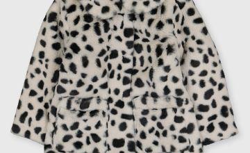 Dalmatian Spot Faux Fur Jacket