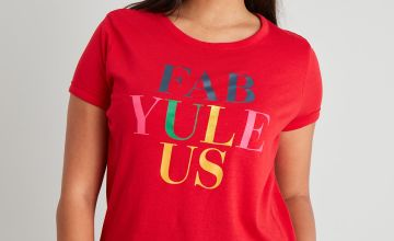 Christmas Red Slogan T-Shirt