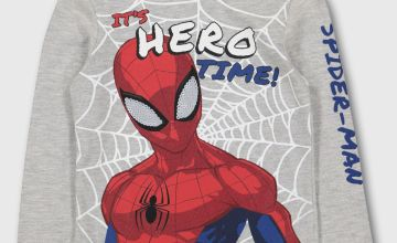 Marvel Spider-Man Grey Top