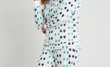 Christmas Tree Print Fleece Pyjamas