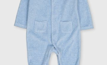 Blue Rib Velour All In One