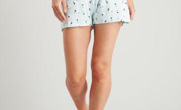 Sheep Print Pyjama Shorts