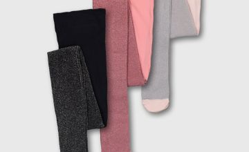 Glitter Opaque Tights 3 Pack