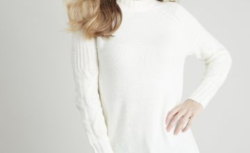 Cream Cable Knit Jumper Dress