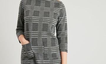 Highlands Check Boat Neck Shift Dress