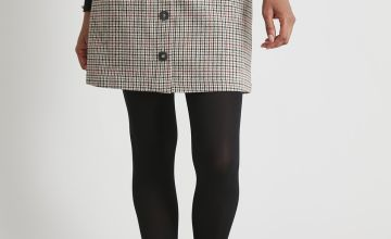 Check Hacking A-Line Coord Skirt With Wool