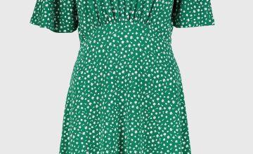 Ditsy Floral Print Tea Dress