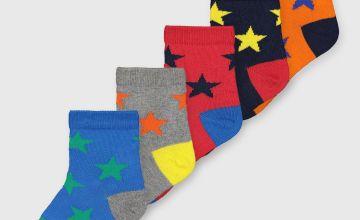 Star Colourway Ankle Socks 5 Pack