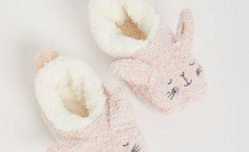 Pink Bunny Cosy Footsies