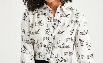 Woodland Print Button-Through Shirt