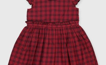Red Check Occasion Dress