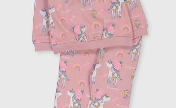 Peppa Pig Pink Printed Sweatshirt & Joggers