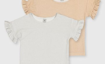 Sparkle Short Sleeve Party Top 2 Pack