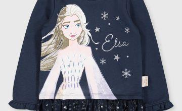 Disney Frozen 2 Elsa Navy Sweatshirt