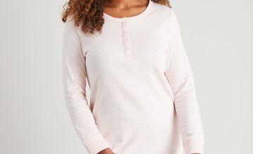 Pink Stripe Henley Nightdress