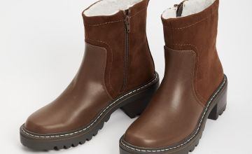Sole Comfort Brown Chunky Boots