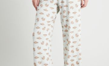 Sloth Print Pyjama Bottoms