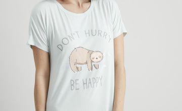 Green Sloth 'Be Happy' Nightdress