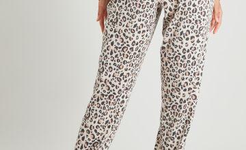 Leopard Print Pyjama Bottoms
