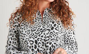 Leopard Print Western Shirt