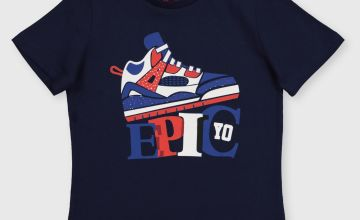 Navy Epic Trainer T-Shirt