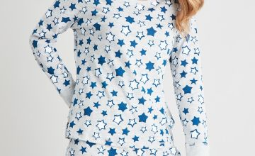 Mini Me Grey Star Print Pyjamas