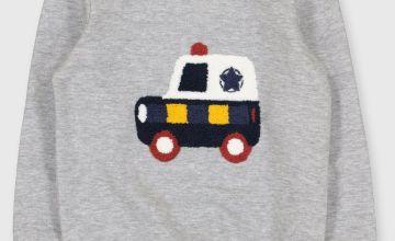 Grey Police Car Sweatshirt