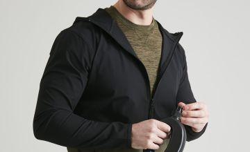 Active Khaki & Black Ripstop Hooded Jacket