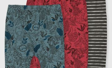 Jungle Print & Striped Leggings 3 Pack