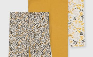 Mustard & Floral Leggings 3 Pack